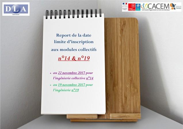 DLA report date limite inscription n°14 ET 19