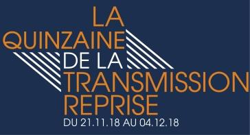 Logo orange fond bleu